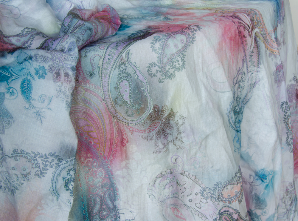 linen with amazing print